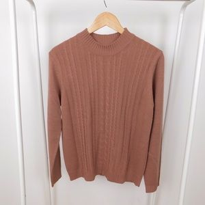 Vintage Deep Blush Vintage Mockneck Sweater